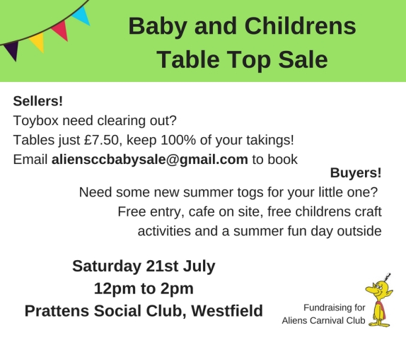 Baby and Childrens Table Top Sale