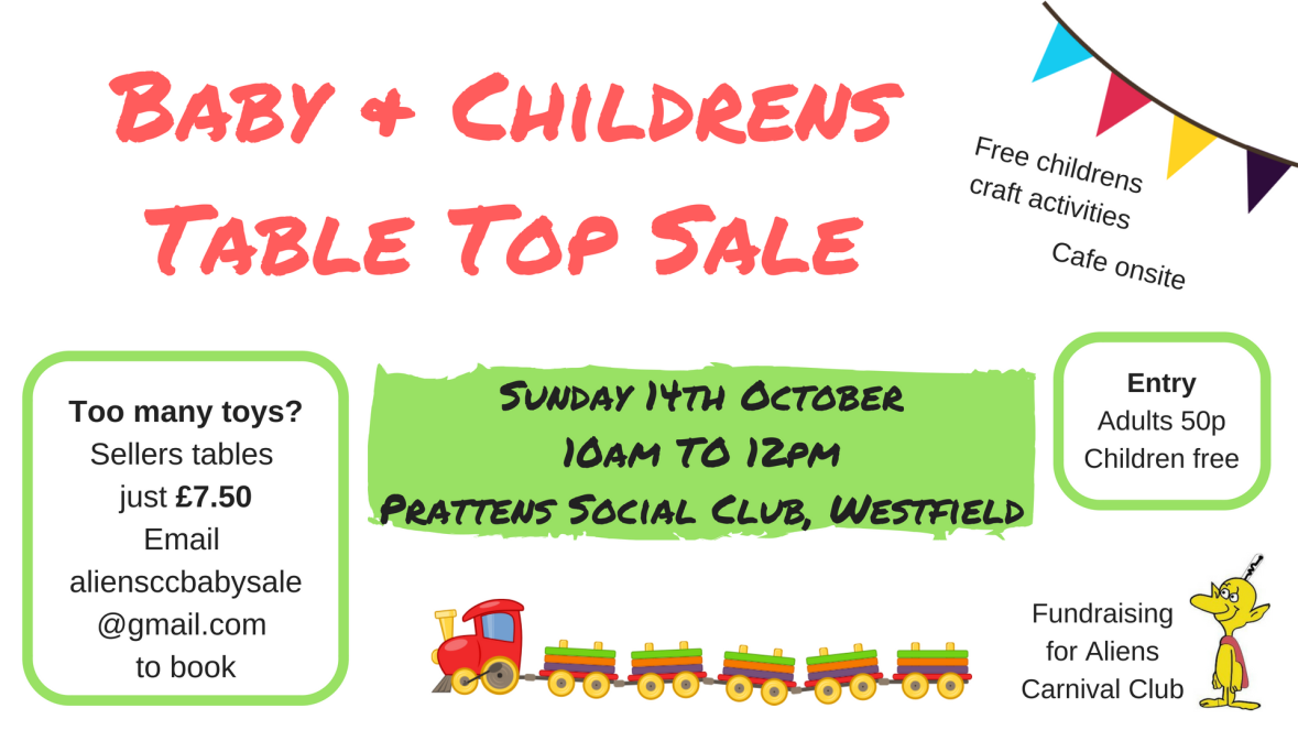 Baby & Childrens Table Top Sale
